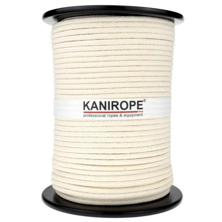 Baumwollseil COBRAID ø6mm 100m Spule cremig Weiß 16-fach geflochten von Kanirope®