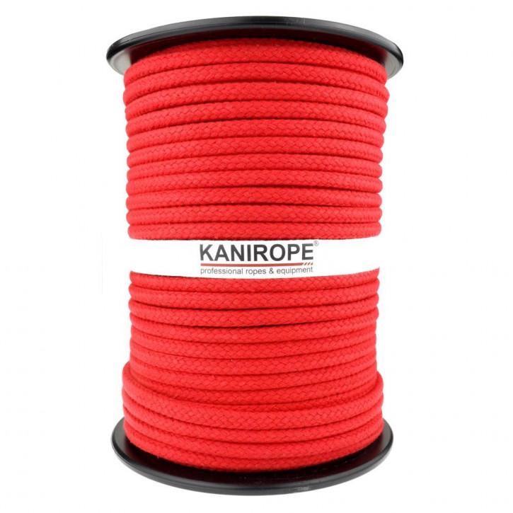 Baumwollseil COBRAID ø9mm Rot 16-fach geflochten von Kanirope®