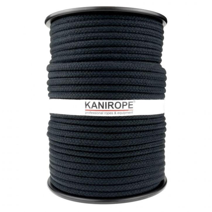 Baumwollseil COBRAID von Kanirope ø9mm Schwarz 16-fach geflochten