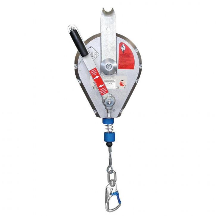 Höhensicherungsgerät HRA Drahtseil mit Rettungshubeinrichtung von IKAR