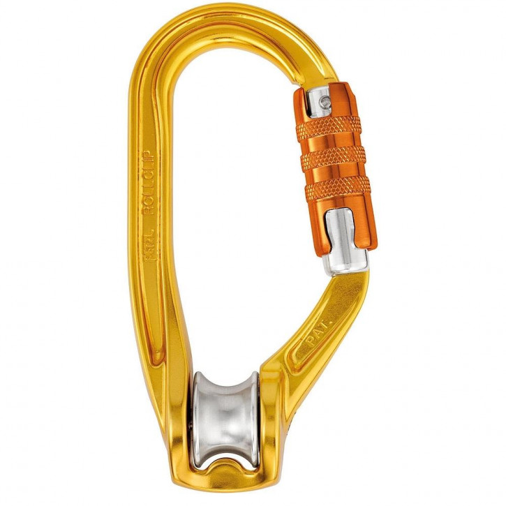Karabiner mit Seilrolle ROLLCLIP A TRIACT-LOCK von Petzl®