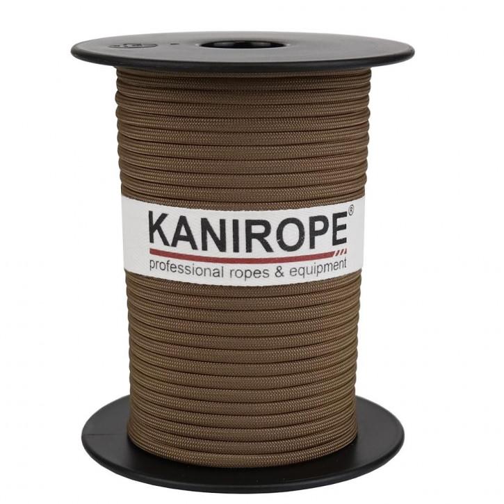 Paracord 550 XPRO ø3,8mm Hellbraun geflochten von Kanirope®