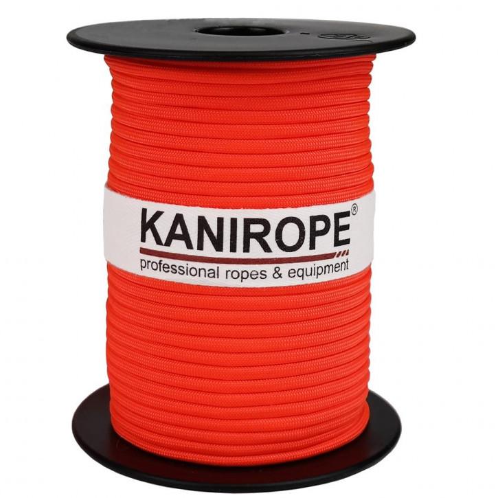 Paracord 550 XPRO ø3,8mm Neonorange geflochten von Kanirope®