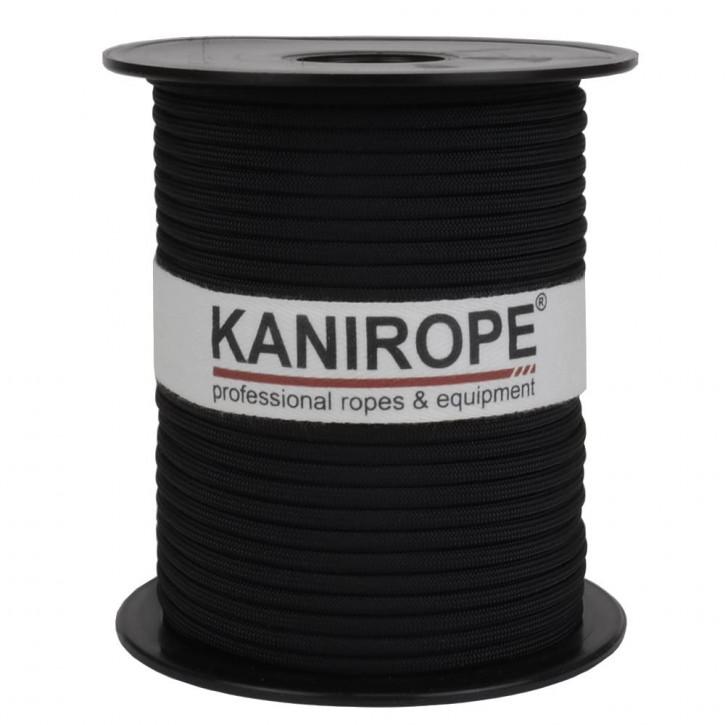 Paracord 550 XPRO ø3,8mm Schwarz geflochten von Kanirope®