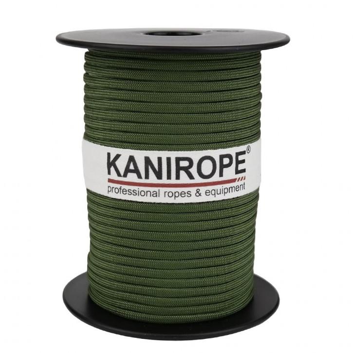 Paracord 550 XPRO ø3,8mm Tannengrün geflochten von Kanirope®