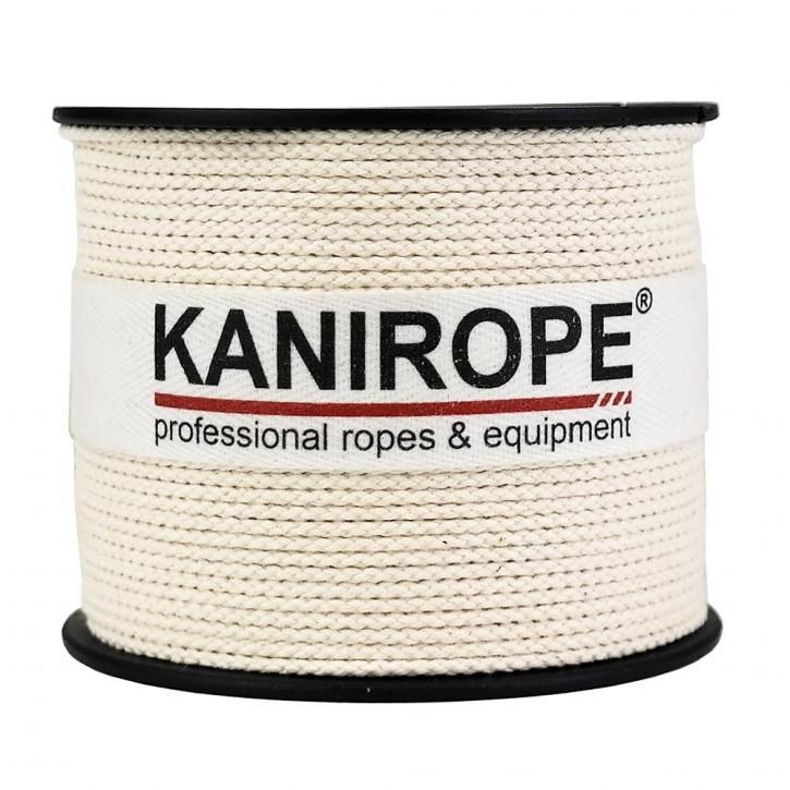 Baumwollseil COBRAID ø1mm 500m cremig Weiß 8-fach geflochten von Kanirope®