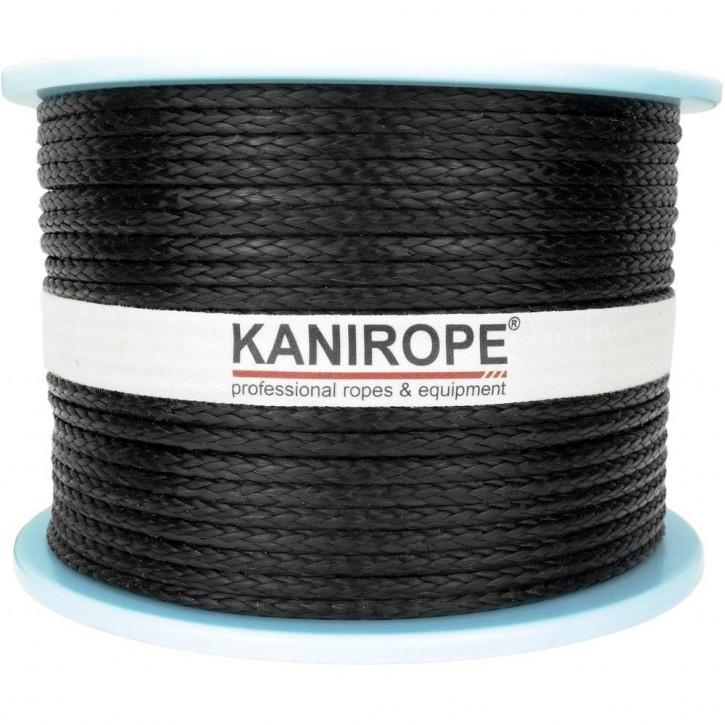 Kanirope® PRO BLACK Dyneemaseil geflochten