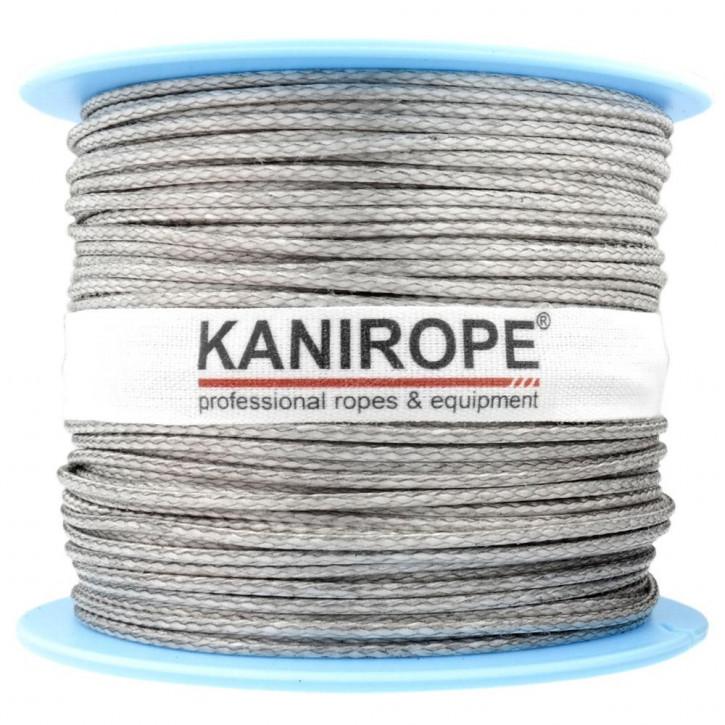 Dyneema Seil PRO ø1mm 100m Spule Silber 12-fach geflochten von Kanirope®