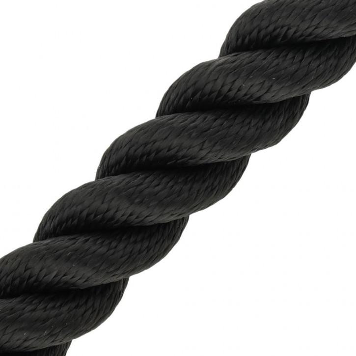 Polypropylenseil MULTITWIST ø30mm 220m Trosse Schwarz 3-litzig gedreht von Kanirope®