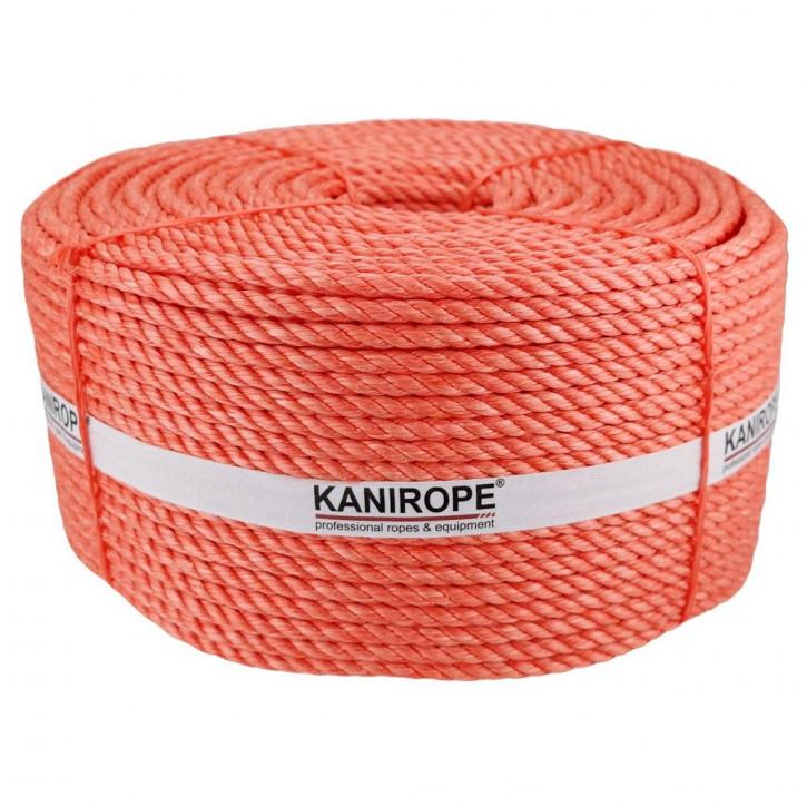 Polypropylenseil SPLIT ø4mm 500m Trosse Orange 3-litzig gedreht von Kanirope®