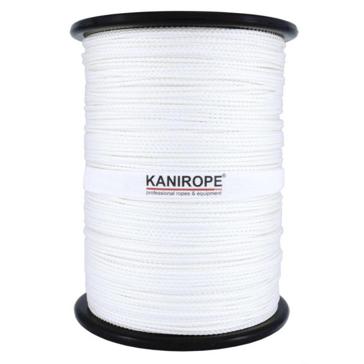Polyamidseil NYLONBRAID ø2mm 500m Spule Weiß 8-fach geflochten von Kanirope®