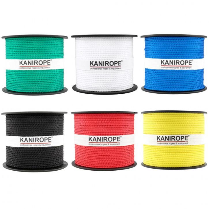 PP Seil MULTIBRAID von Kanirope ø1mm geflochten Standardfarben