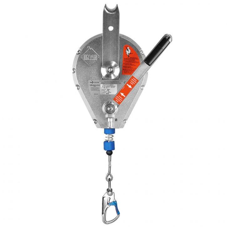 Höhensicherungsgerät HRA VA-Seil mit Rettungshubeinrichtung von IKAR