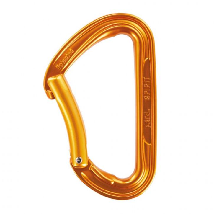 Karabiner SPIRIT mit gebogenem Schnapper Farbe Gold von Petzl®